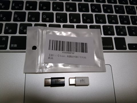 RoiCiel MicroUSB to Type-C 変換コネクタ